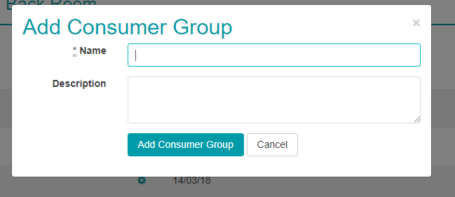 Add Consumer Group