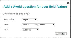 Avoid User Field