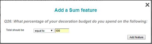 Add Sum Feature