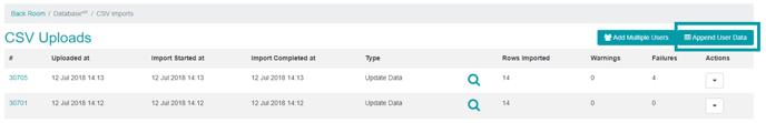 Appending User Data