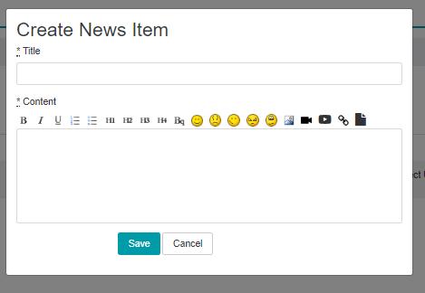 Create News Item