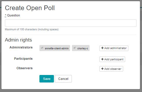Create Open Poll