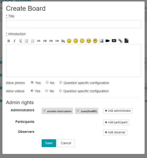 Create Question BoardMR
