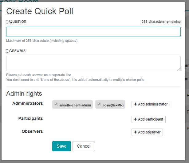 Create Quick PollMR