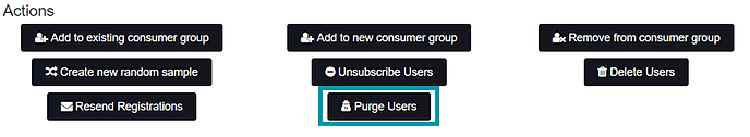 Purge Users Action
