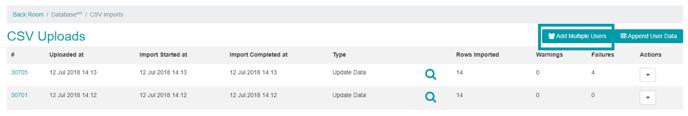 Multi User Upload CSV